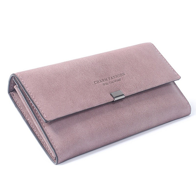 2018 Quality Women Long Wallets Letter Standard Hasp Money Purse Fashion Style Card Holder Synthetic Leather Clutch Bag Female