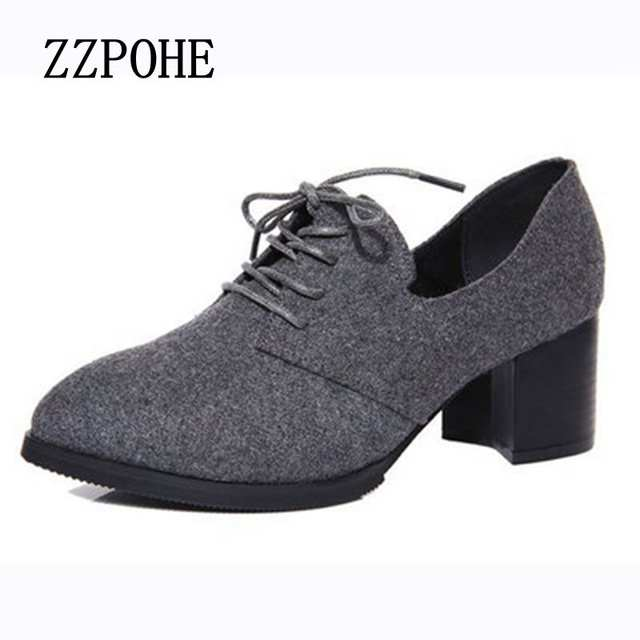 7e16041a placeholder ZZPOHE New spring woman shoes stylish comfortable Ladies high-heeled  shoes pointed retro lace wild