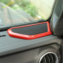 Lapetus Inner Window Pillar A Front Door Speaker Audio Cover Trim 2 Pcs Fit For Jeep Wrangler JL 2018 2019 / ABS