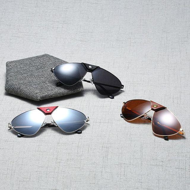 baa8c4585 Personality Polarized Sunglasses Metal Frame Unisex Charms Sun Glasses  Outdoor Fashion UV400 Women Men Sunglasses