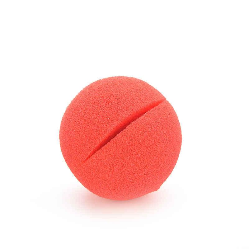 1 قطعة لطيف مهرج الأنف الأحمر الإسفنج الأنف الإسفنج الكرة الأحمر مهرج الأنف تجعيد الشعر شعر مستعار لحزب هالوين ملحقات للتزيين