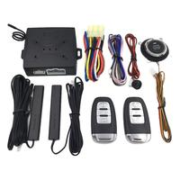 Modified Universal Car Keyless Entry Engine Start Alarm System Push Button Remote Starter Stop Auto Car Accessories Remote Kit