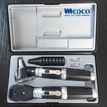 Немецкий качественный медицинский диагностический набор, волоконно-оптический отоскоп и прямой офтальмоскоп отоскопио и офтальмоскопио