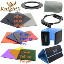 KnightX 49mm-82mm 52mm 58mm cokin p series Lente de Filtro de Color nd set para sony alpha a300 a350 a230 a330 a580 d5200 d5300 D3100