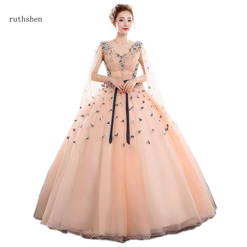 Ruthéshen robes Quinceanera 15 Anos robes de bal Quinceanera nouvelles Appliques robe de bal pour soirée col en v robe