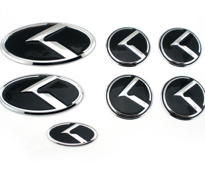 7pcs Set Car K Logo Sticker Decal Red Black Steering Wheel Emblem 60mm For Kia Vip K5 Flight Styling On Aliexpress Alibaba Group