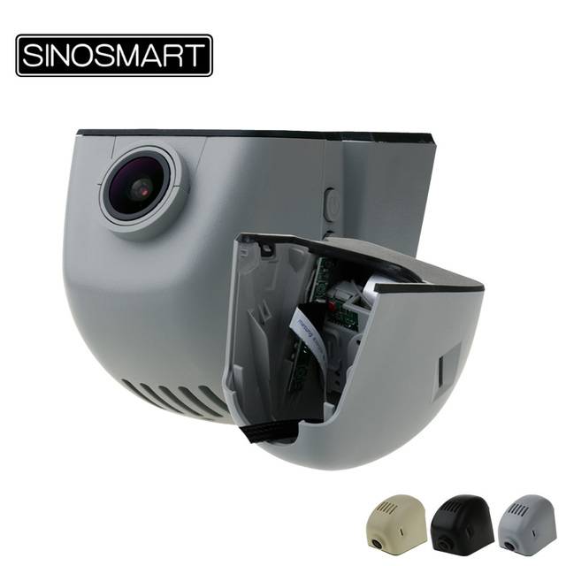 SINOSMART Wifi DVR dla Audi A1 A3 A4L A5 A6L A7 A8 Q3 Q5 Q7 itp. ogólny Model kontrola aplikacji Novatek 96658/SONY IMX323
