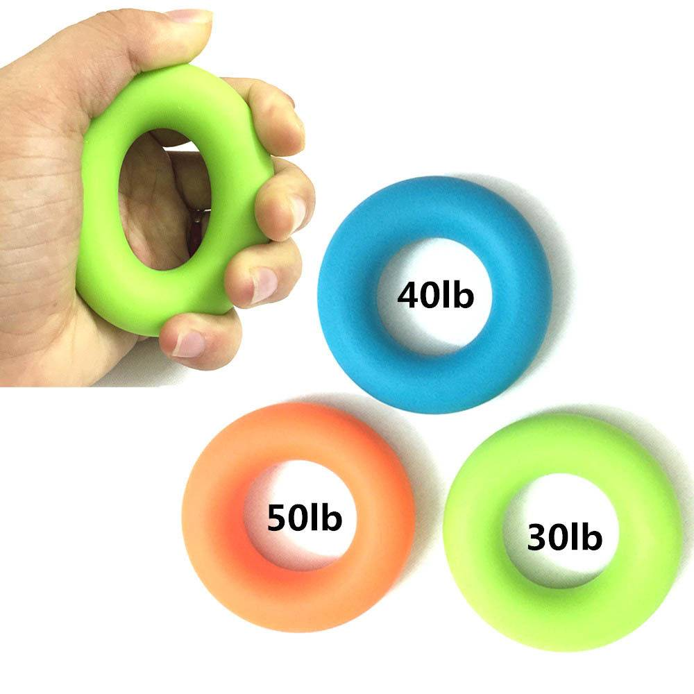 Silica Gel Portable Hand Grip Gripping Ring Carpal Expander Finger Trainer Grip Strength Rehabilitation Pow Stress Ring Ball