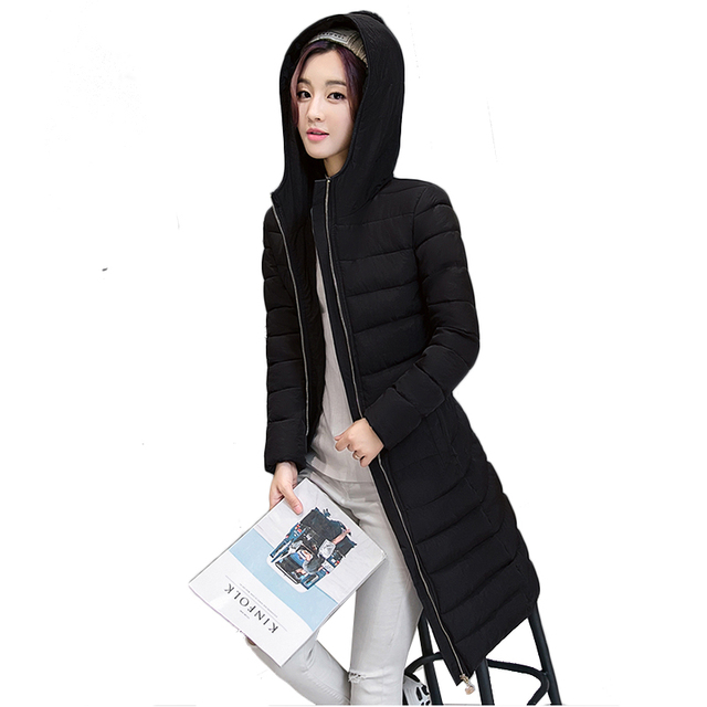 long Winter Jacket Women thicken warm hooded cotton jacket coat 2019 high quality cotton-padded coats women large size  coats