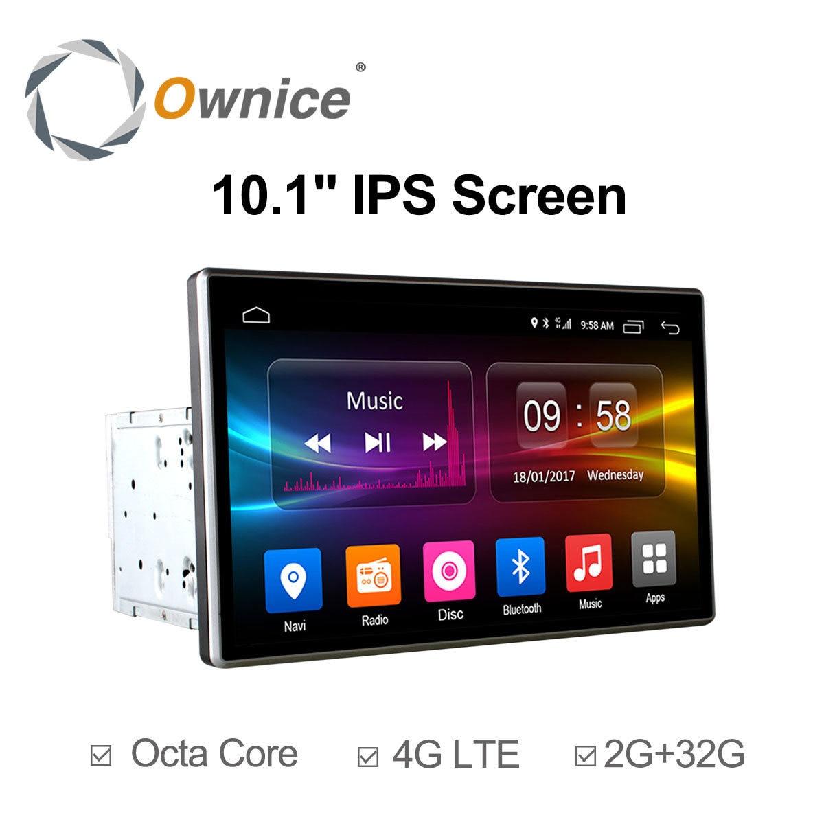 Ownice C500 2Din 10.1 pouce HD android 6.0 octa core Universel de voiture radio stéréo Lecteur DVD GPS Navigation TPMS DAB 4g LTE Carplay