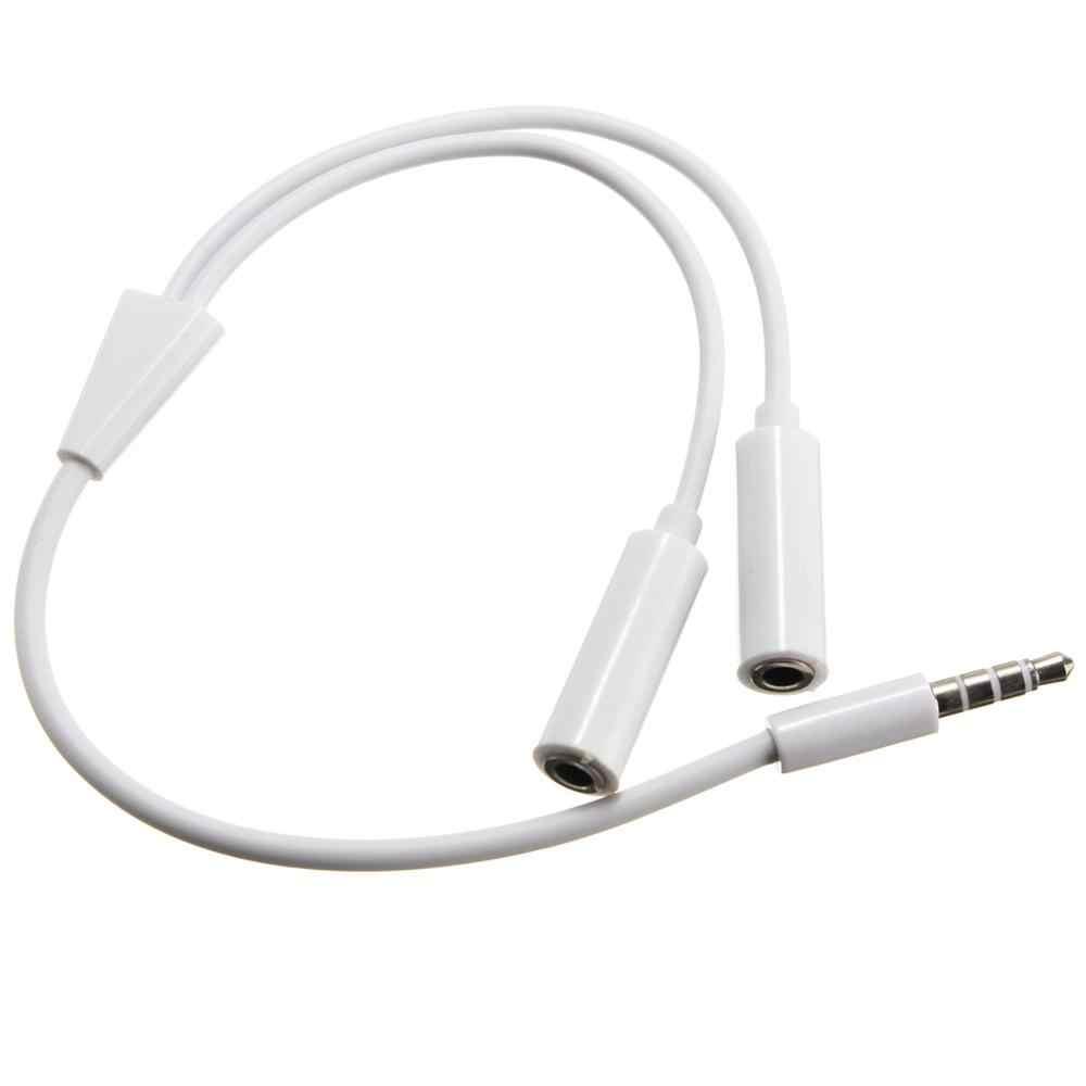 Y kabel splittera 3.5mm 1 męski na 2 podwójny żeński kabel Audio do słuchawek zestaw słuchawkowy MP3 MP4 stereofoniczna przejściówka adapter Jack