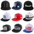 Promoción barato estilo simple 10 carta activo deportes hombres mujeres hip hop sombrero plano pico snapback encajan a presión detrás los sombreros de sun gorras de béisbol