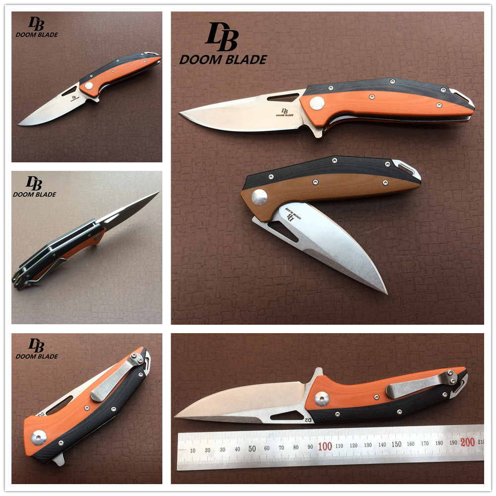 7.9 Plus Knives 60-61HRC Folding Knife D2 Blade G10 Handle Ball Bearing Outdoor Tactical Survival Camping Utility Military7.9 Plus Knives 60-61HRC Folding Knife D2 Blade G10 Handle Ball Bearing Outdoor Tactical Survival Camping Utility Military