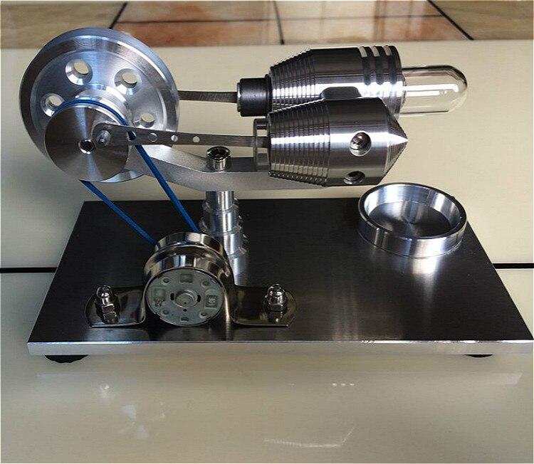 Двигатель Стирлинга Модель двигателя внешнего сгорания паровой двигатель микро двигатель Популярная игрушка для научного эксперимента