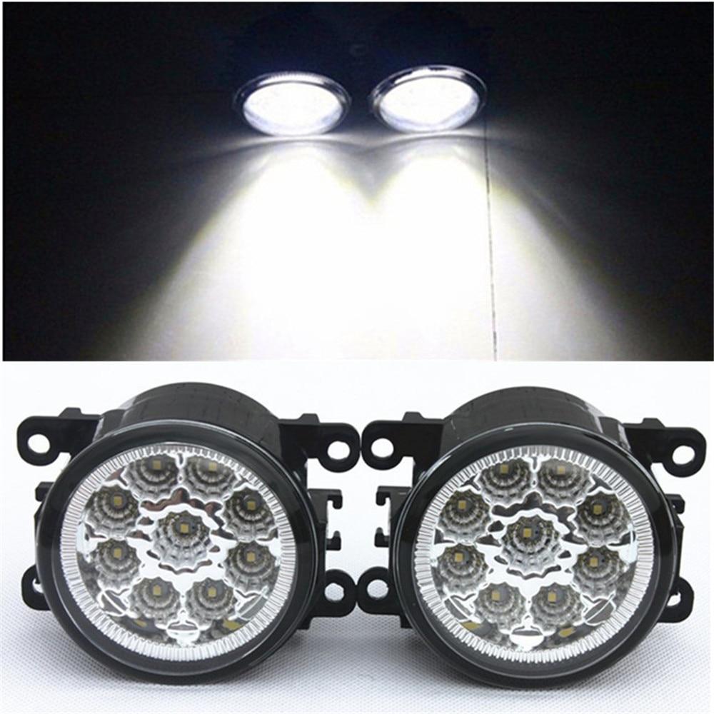 Brouillard Assemblage De La Lampe 12 w Brouillard Lumière Pour Mitsubishi L200 Outlander Pajero Grandis Galant 2003-2015 Led Feux de Brouillard DRL Lampes 1 set