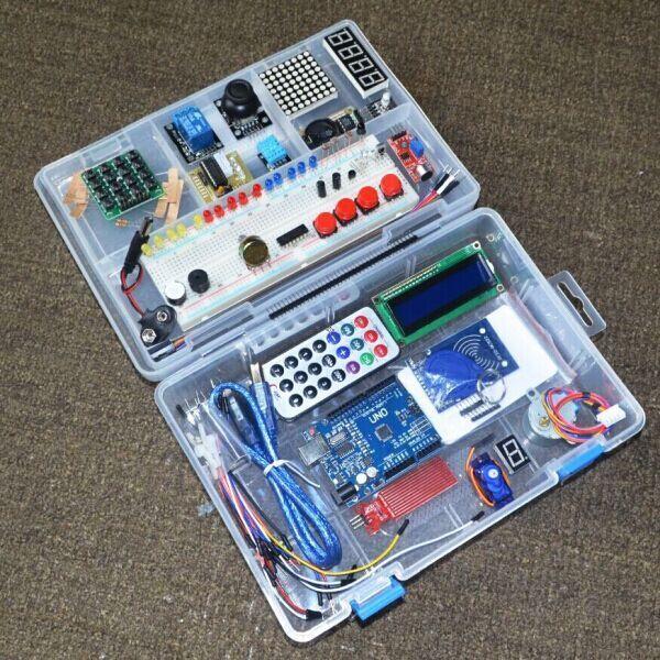 Nuevo RFID Kit de iniciación para Arduino UNO R3 versión mejorada de aprendizaje Suite con caja de venta al por menor