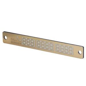 Image 4 - 1 adet aydınlık telefon numarası bildirimi araba geçici park kartı Suckers gece araba Sticker İç otomatik ürünleri aksesuarları
