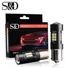 S& D 2 шт. автомобильный светильник 1156 светодиодный BA15S P21W светодиодный BAU15S PY21W 1157 BAY15D P21/5 W R5W авто тормоз задний фонарь DRL задние парковочные лампы