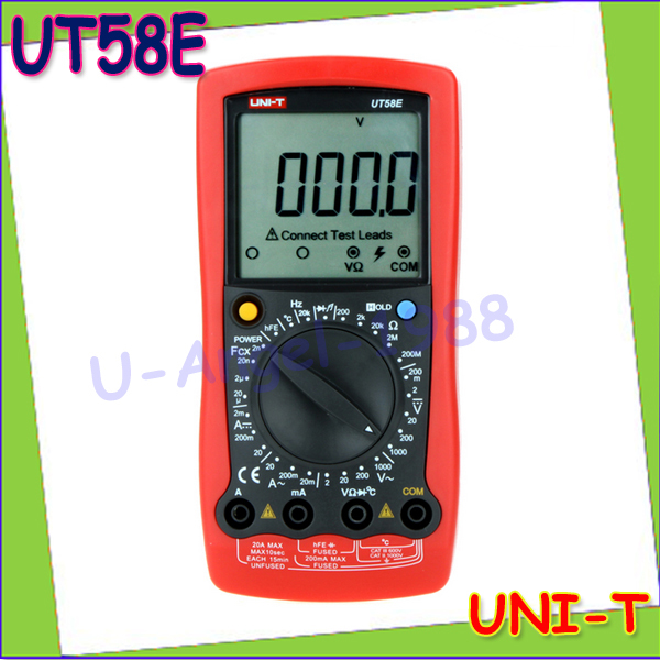 1pcs UNI-T UT58E DMM A/DC Modern Digital Multimeters UT58E Temperature Probe Wholesale Dropship  цены