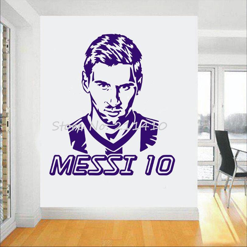 Futbol takımı logosu Duvar Sticker Sanat Messi vinil duvar sticker - Ev Dekoru - Fotoğraf 2