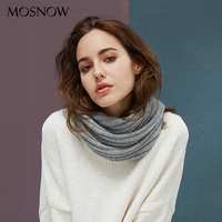 Winter Scarf Warm Women Striped Ring Scarves Wool Knitted Fashion Scarfs For Ladies Scarves Shawls Luxury Brand Neck Bandana
