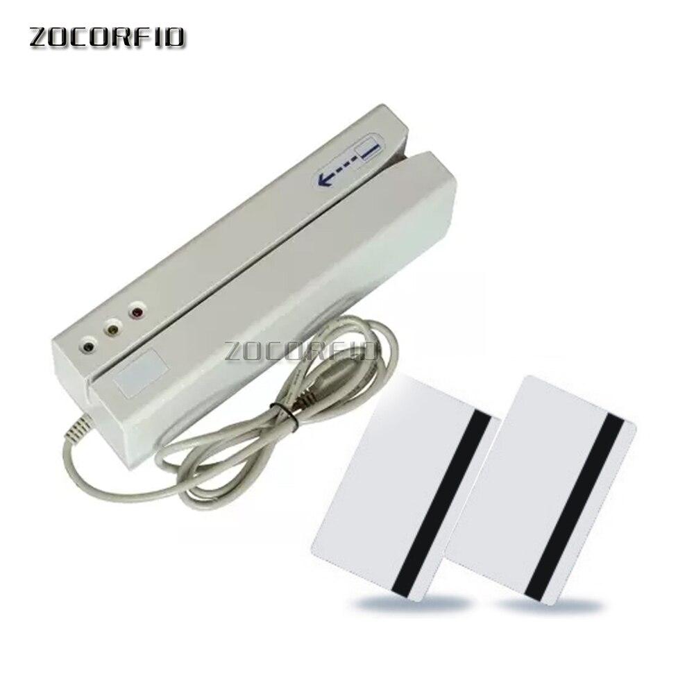 USB port Double pistes Hico 2750oE carte à bande Magnétique lecteur-graveur/VIP de carte Magnétique écrivain avec le logiciel anglais