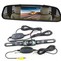 "4.3"" tft lcd Car Mirror Monitor Rear view Camera system, 2.4g wireless WIFI Rearview Video Parking reverse backup Camera kit 12v"