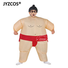 JYZCOS Halloween Purim Costume Inflatable Sumo Suit Sumo Wrestling Suit Kids Unisex Boys Girls Wrestler Fancy Dress Outfit(China)