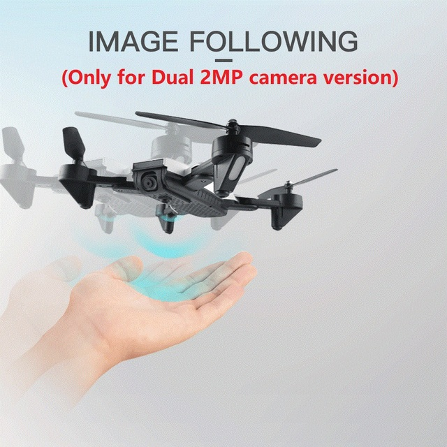 Professional Selfie Drone Optical Follow Me RC Quadcopter with Dual Camera HD 1080P FPV Helicopter VS VISUO XS809S SG700 E58-in RC Helicopters from Toys & Hobbies on Aliexpress.com | Alibaba Group