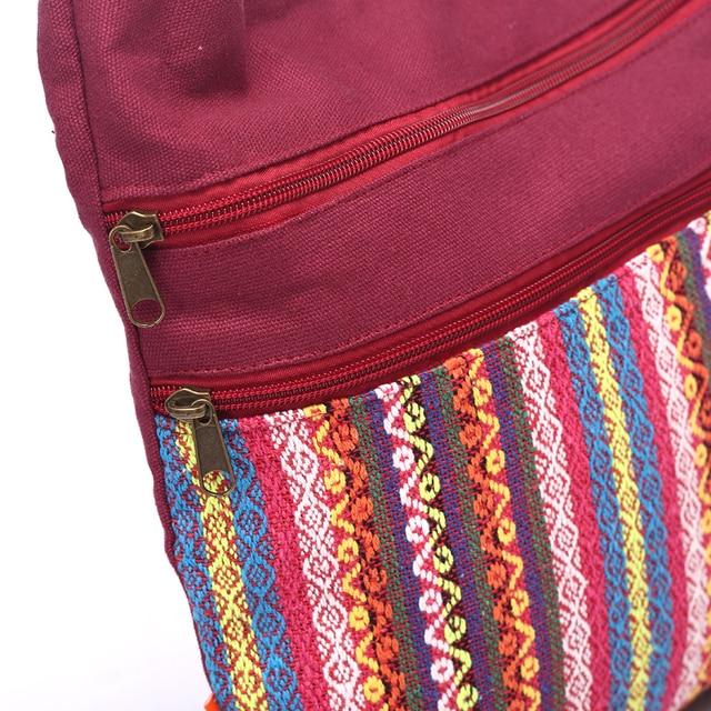 Cotton Fabric Sling Shoulder Bag Women's Vintage Hippie Patchwork Messenger Bag Thai Style Hobo Shoulder Gypsy Bag 3