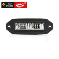 WINING Flush Mount 12V 40W Flood LED Work Light Bar Off Road Backup Driving Lights Fog Lamp for Bumper Boat