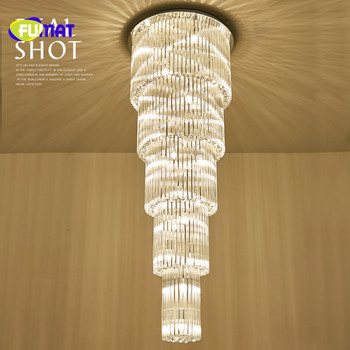 FUMAT מודרני Creative ארוך K9 קריסטל Stainess פלדת LED תקרת מנורת יוקרה מדרגות אורות עבור אוכל חדר מבואת מטבח אורות