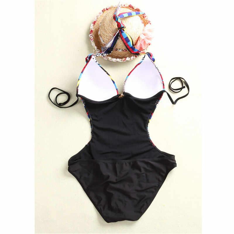 زي سباحة قطعة واحدة مثير للنساء لباس سباحة مونوكيني برافع للأعلى بتصميم عتيق عتيق للنساء لباس سباحة قطعة واحدة
