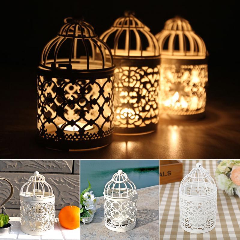 unid nuevo vintage pequea jaula de pjaro de hierro flor de pared decoracin candelabro titular