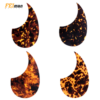 Pleroo guitar parts Acoustic Guitar Pickguard Quality Self-adhesive OM 18V Style Pick Guard Sticker For 40 41 Size guitarra professional guitar accessories drop bird shaped pickguard folk acoustic self adhesive pick guard sticker scratch plate