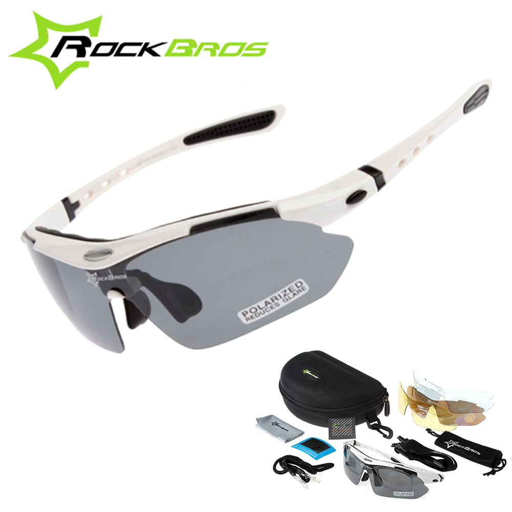 Hot! RockBros Polarized Cycling Sun Glasses Outdoor Sports Bicycle clismo Road Bike MTB Sunglasses TR90 Goggles Eyewear 5 Lens oreka 999 fashion polarized tr90 frame resin lens sunglasses grass green