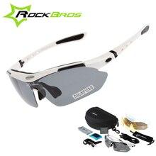 Hot! RockBros Polarized Cycling Sun Glasses Outdoor Sports Bicycle clismo Road Bike MTB Sunglasses TR90 Goggles Eyewear 5 Lens