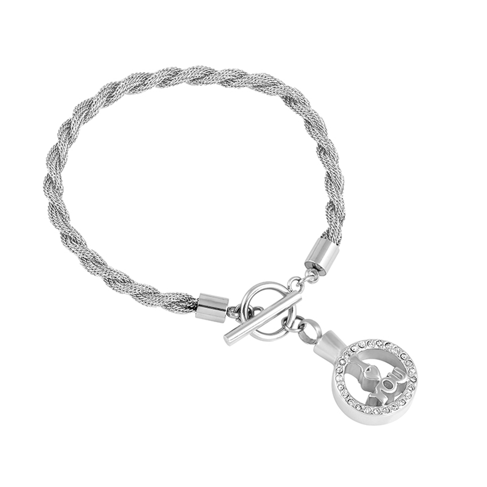 Cmb5079 New I Love You Memorial Urn Bracelets For Ashes Stainless Steel Cremation Bracelet Bangles Women In From Jewelry Accessories On