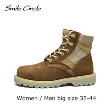 Big Size Plus Size Autumn Shoes Women Winter Ankle Boots Genuine Leather  boots Women's Martin boots Motorcycle platform shoes