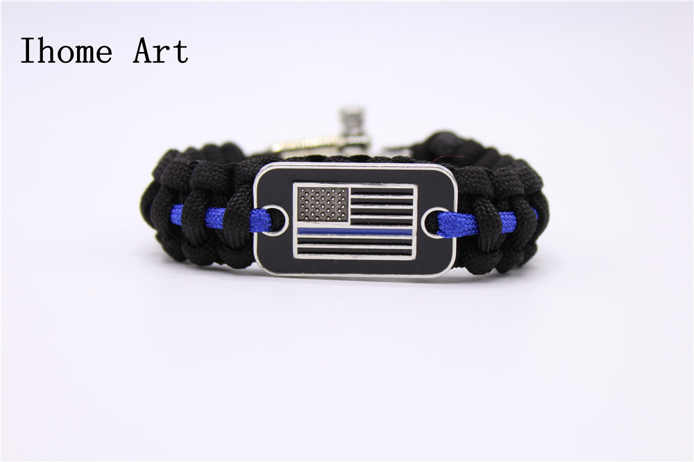 line lives usa blue police bracelet from buckles hooks us home paracord item in support armband red thin bangle america flag survival
