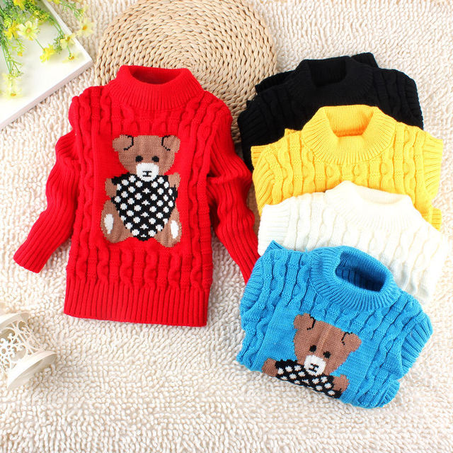 895d25207 Baby girl autumn winter knitting sweater clothes child boy kid full ...