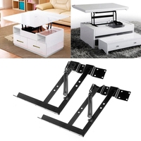1Pair Lift Up Top Coffee Table Lifting Frame Mechanism Spring Hinge Hardware T15 Drop ship