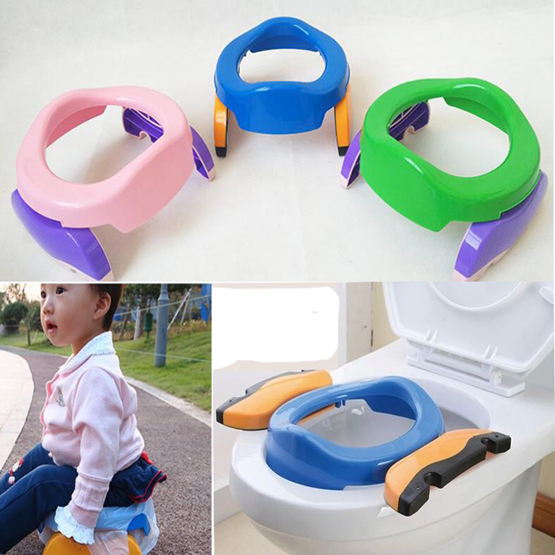 Baby Toilet Trainning Potty Seat Folding Travel Potty Toilet Seat Kids Urinal Portable Pot Folding Chair Boys WC With Urine Bag