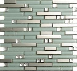 Edelstahl Metall Glas Mosaik Fliesen Küche Backsplash Badezimmer Dusche  Hintergrund Home Decroationv Hintergrund Wand Papier