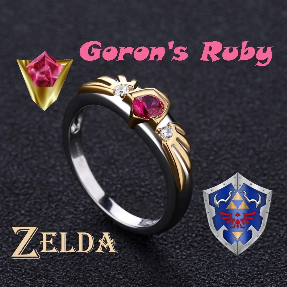 Women/'s Legend of Zelda Zora Sapphire Link Breath Of Wild Silver Engagement Ring