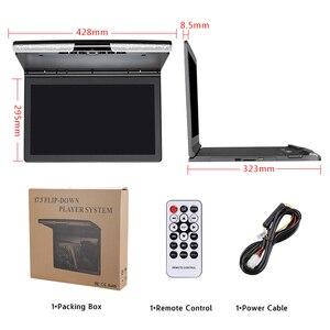 Image 5 - 17.3 インチ車の天井モニター 1920 × 1080 MP5 ルーフマウントカー DVD プレーヤー IR FM トランスミッタ HDMI USB SD スピーカーゲーム