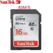 SanDisk SDUNC Memory Card Ultra SDHC/SDXC Class10 16GB 32GB 64GB SD Card C10 UHS-I 80MB/s Read Speed for Camera Camcorder