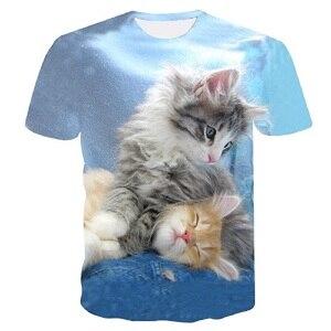 Image 3 - Off White Cat Stampa Maglietta Delle Donne Maglietta Casual Divertente T Shirt per La Signora Della Ragazza Top Tee Pantaloni a Vita Bassa Harajuku di Goccia la Nave Più Il Formato M 5XL