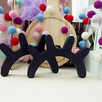 Lovely 2pcs 3D Wooden Eyelash Home Furnishing Wall Decoration Closed Eye Pose Ornament New kids present room decorative Sticker