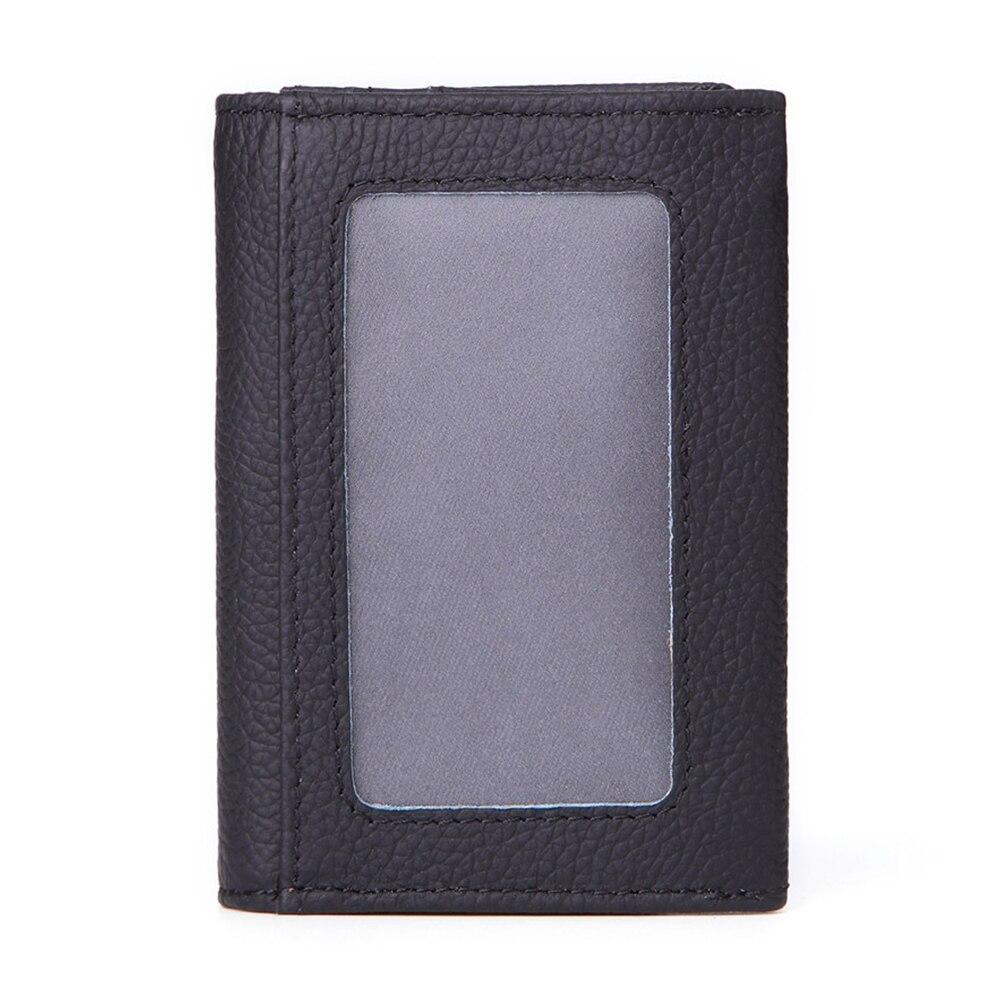 Oil Wax Passport Pocket Purse Zipper Men Business Vintage Organizer Credit Holder Wallet Solid Package Short Card Case
